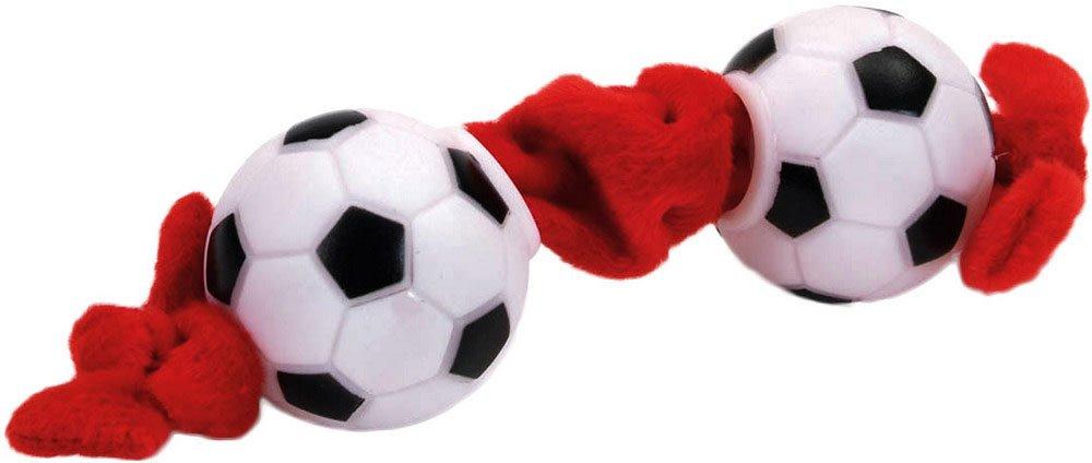 Li'l Pals Plush & Vinyl Soccer Ball Dog Toy, Small