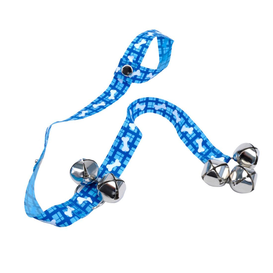 Advance Pet Patterned Dog Potty Training Bells, Plaid Bones, 31-in