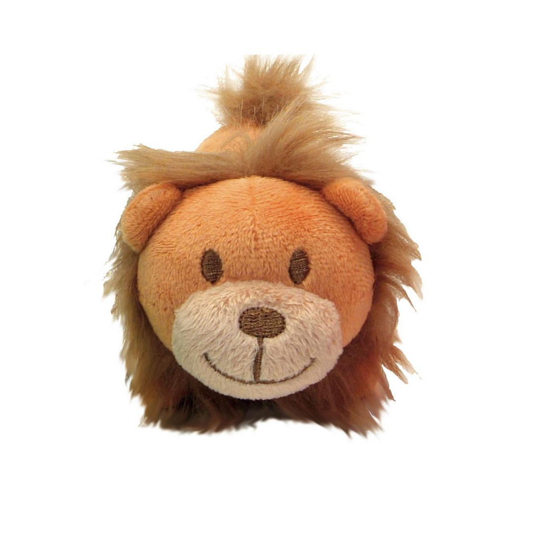 Li'l Pals Lion Plush Dog Toy, 4.5-in