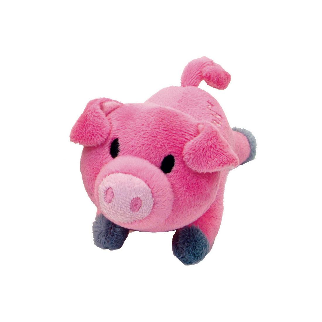 Li'l Pals Pig Plush Dog Toy, 4.5-in
