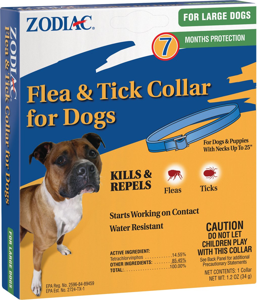 Zodiac Flea & Tick Collar for Large Dogs, 25-in