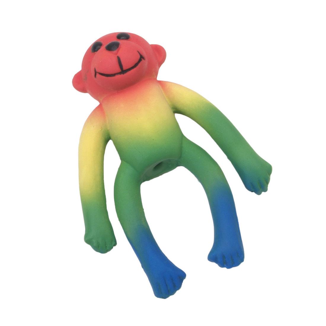 Li'l Pals Latex Monkey Dog Toy, Multi-color, 4-in