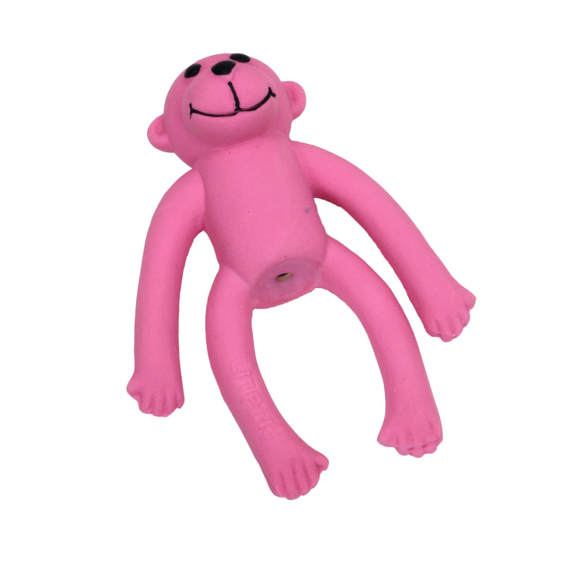 Li'l Pals Latex Monkey Dog Toy, Pink, 4-in