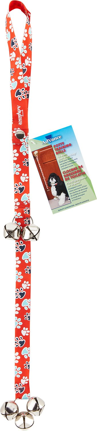 Advance Pet Potty Training Bells for Dogs, Red Image