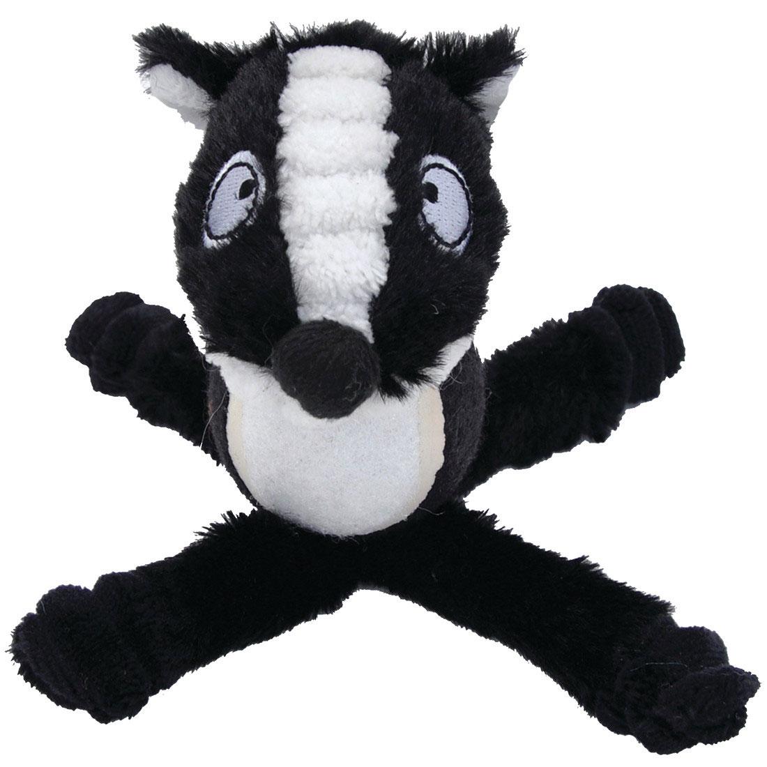 Li'l Pals Tennis Ball Skunk Plush Dog Toy, 6-in