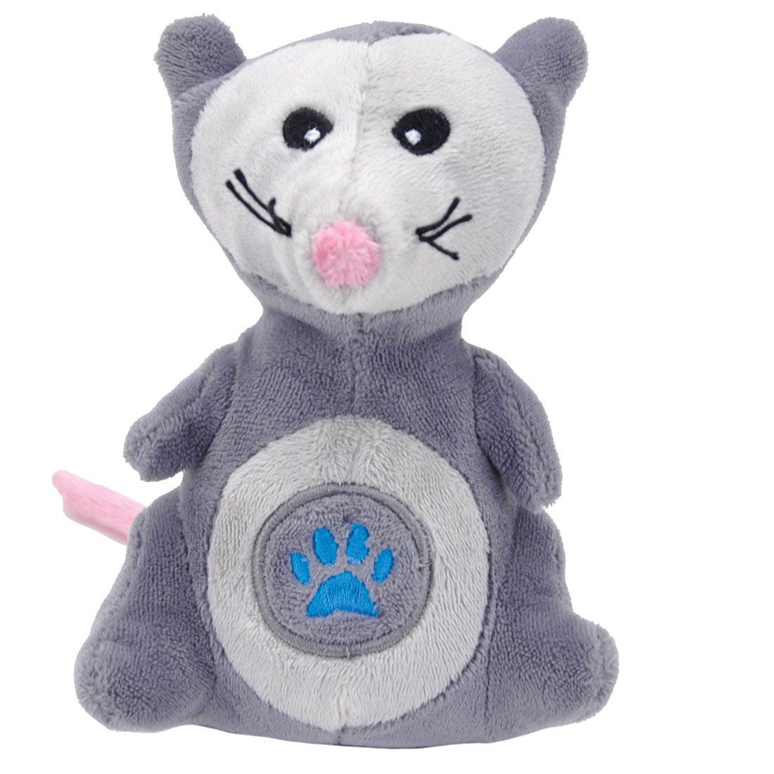 Li'l Pals Paw Opossum Plush Dog Toy, 5-in