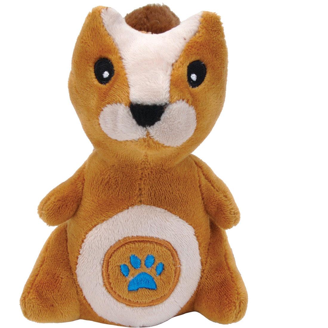 Li'l Pals Paw Squirrel Plush Dog Toy, 5-in