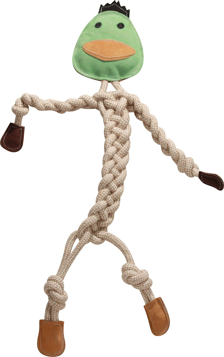 HuggleHounds Rope Knotties Duck Dog Toy, Large