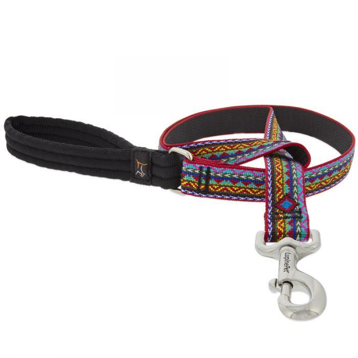 Lupine Pet Original Designs Padded Handle Dog Leash, El Paso, 1-in x 6-ft