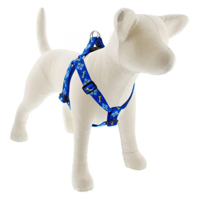 Lupine Pet Original Designs Step In Dog Harness, Dapper Dog, 1-in x 19-28-in