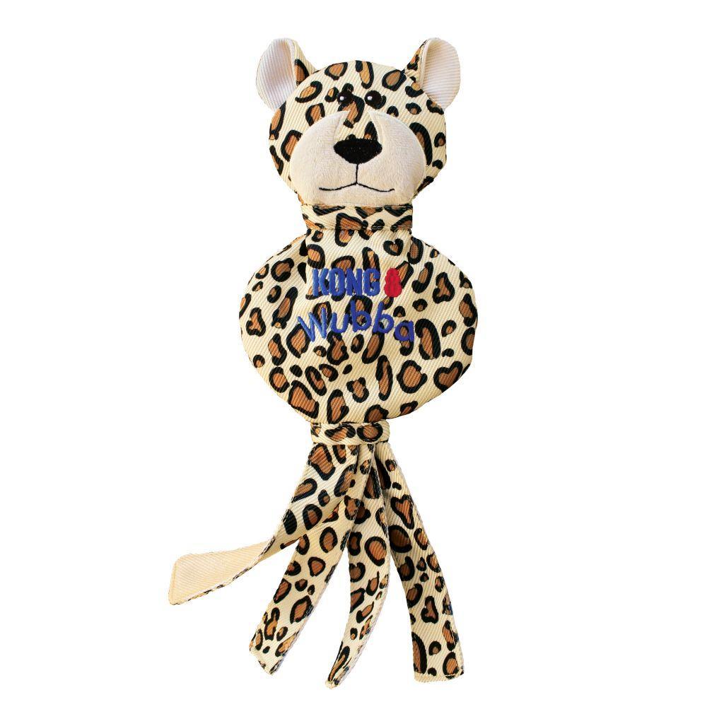 KONG Wubba No Stuff Cheetah Dog Toy, Large
