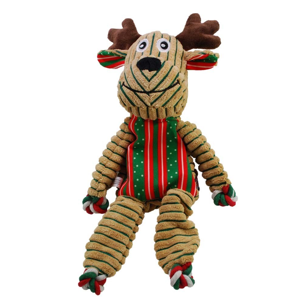 KONG Holiday Floppy Knots Reindeer Dog Toy