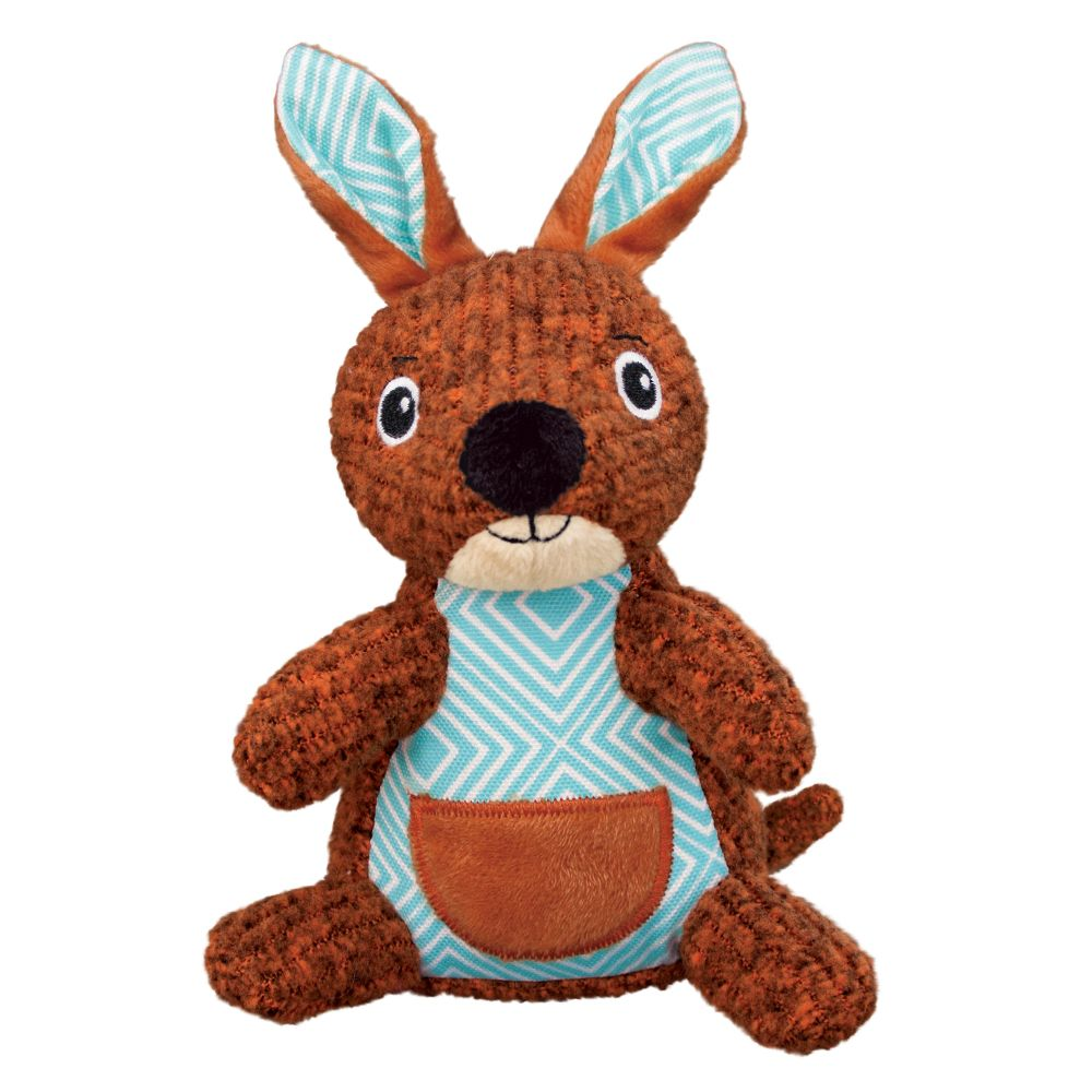 KONG Patches Cordz Kangaroo Dog Toy, Orange, Small