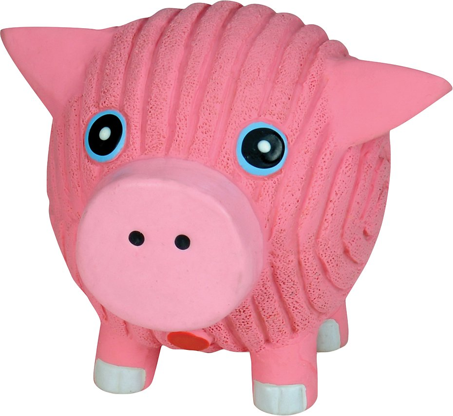 HuggleHounds Ruff-Tex Hamlet the Pig Ball Dog Toy, Large
