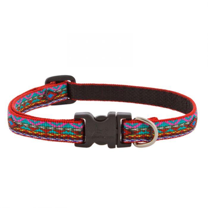 Lupine Pet Original Designs Adjustable Dog Collar, El Paso, 1/2-in x 8-12-in