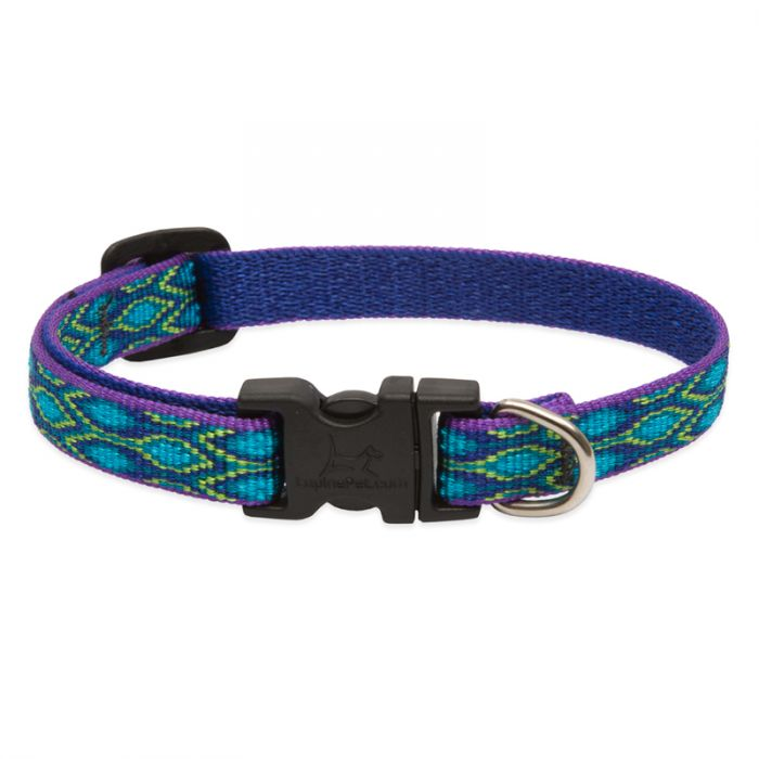 Lupine Pet Original Designs Adjustable Dog Collar, Rain Song, 1/2-in x 8-12-in