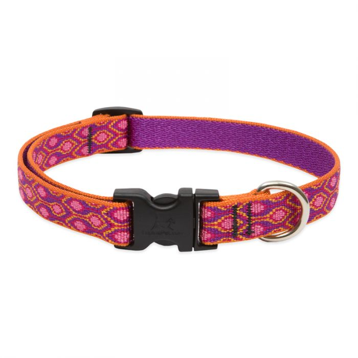 Lupine Pet Original Designs Adjustable Dog Collar, Alpen Glow, 3/4-in x 9-14-in