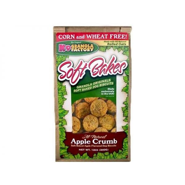 K9 Granola Factory Soft Bakes Apple Crumb Dog Treats, 12-oz