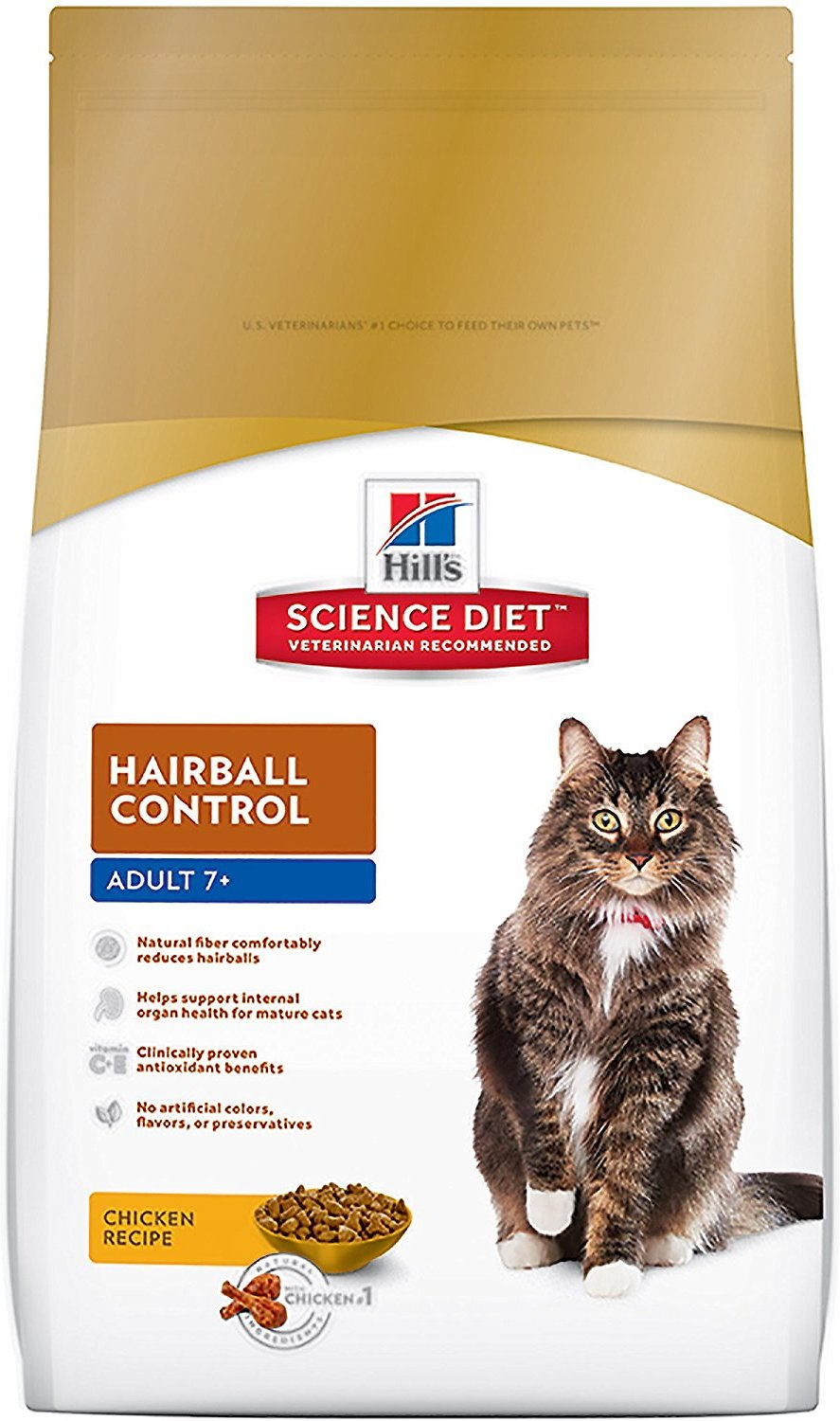 Hill's Science Diet Adult 7+ Hairball Control Dry Cat Food Image