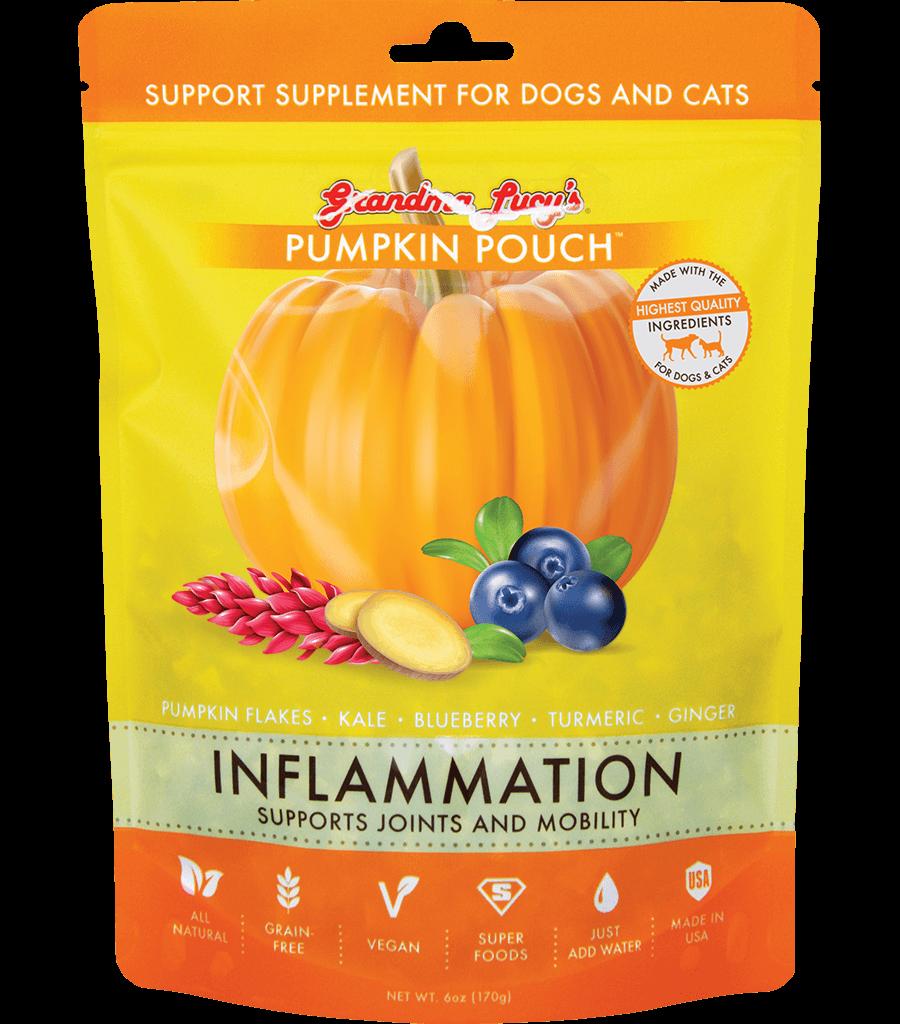 Grandma Lucy's Pumpkin Pouch Inflammation Dog & Cat Supplement, 6-oz