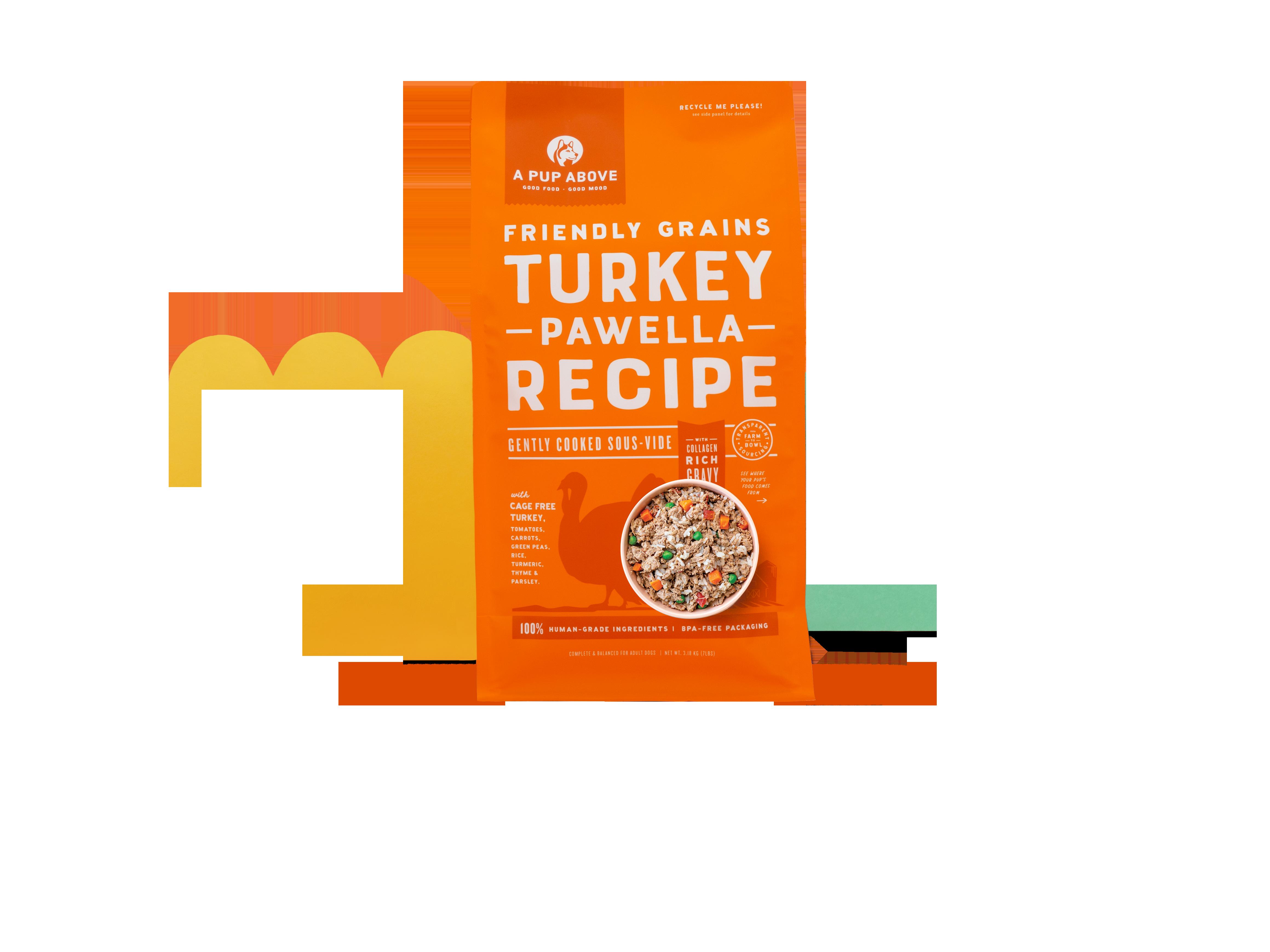 A Pup Above Turkey Pawella Grain-Free Dog Food, 7-lb