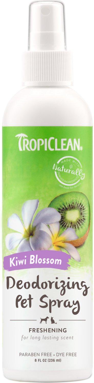 TropiClean Kiwi Blossom Deodorizing Dog Spray, 8-oz bottle