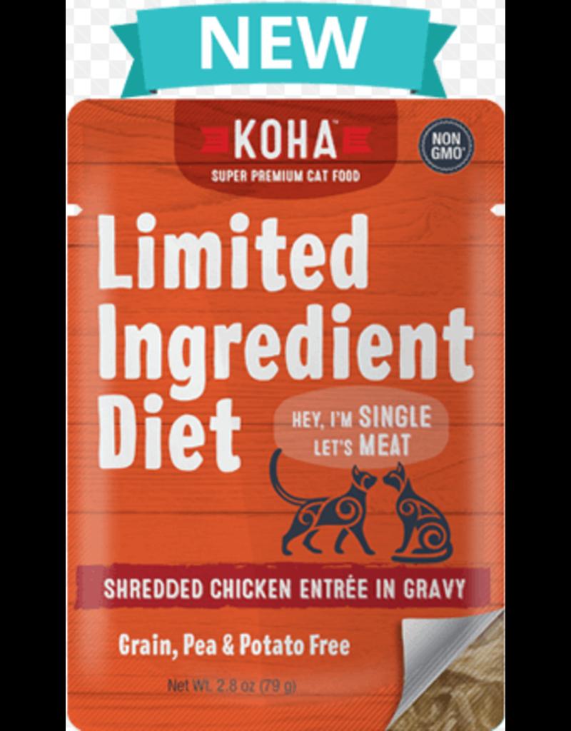 Koha Cat Limited Ingredient Shredded Chicken Entree in Gravy Wet Cat Food Image
