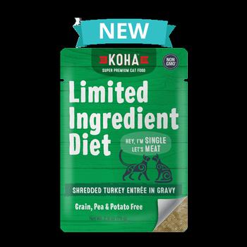 Koha Cat Limited Ingredient Shredded Turkey Entree in Gravy Wet Cat Food Image