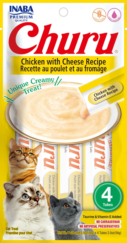 Inaba Churu Grain-Free Chicken with Cheese Puree Lickable Cat Treat