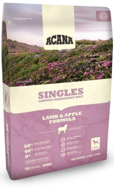 ACANA Singles Limited Ingredient Diet Lamb & Apple Formula Dry Dog Food, 25-lb