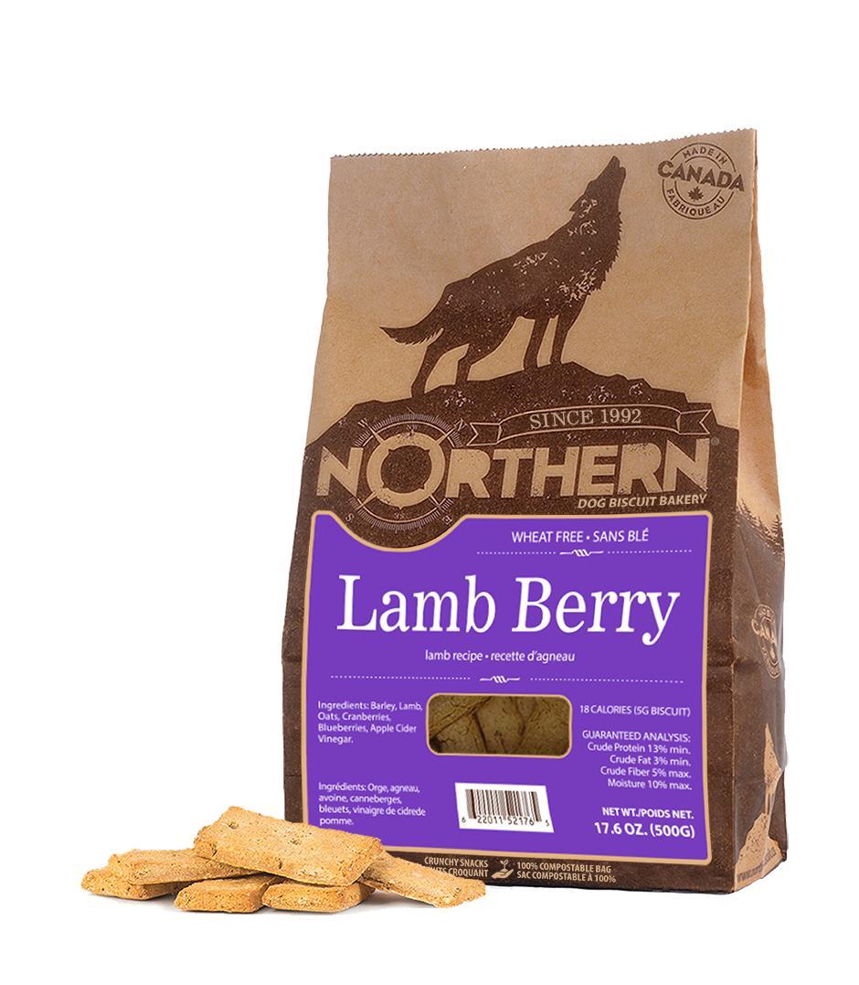 Northern Biscuit Lamb Berry Dog Treats, 500-gram