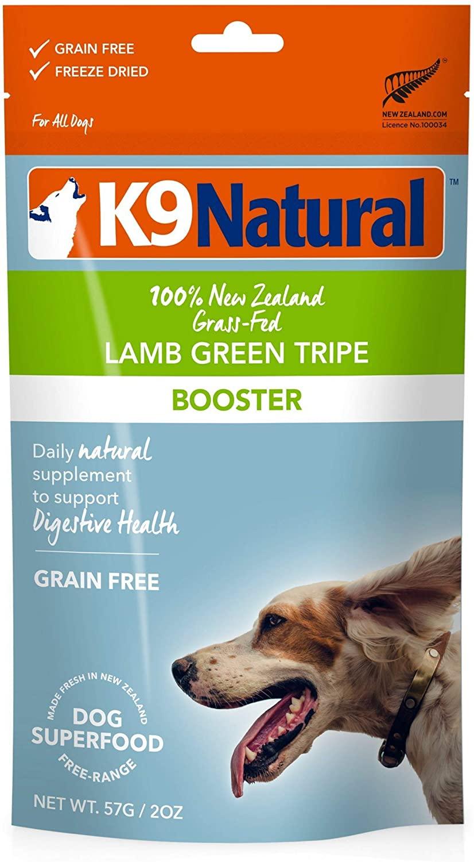 K9 Natural Lamb Green Tripe Booster Freeze-Dried Dog Food Topper, 2-oz bag