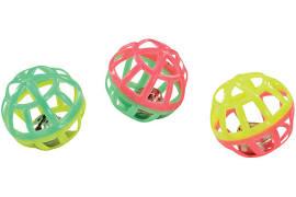 Zanies Lattice Balls with Bell Cat Toy, single