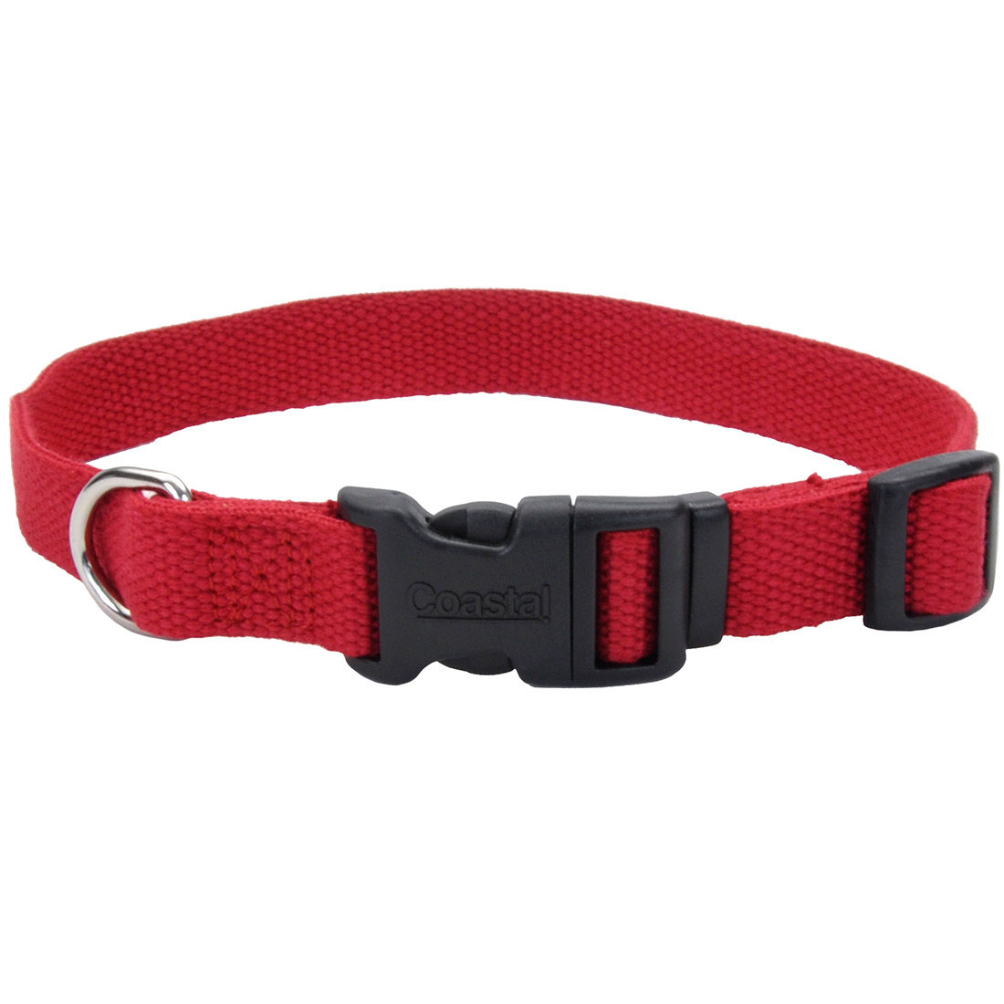 New Earth Soy Adjustable Dog Collar, Cranberry Image