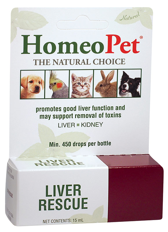 HomeoPet Liver Rescue Dog, Cat, Bird & Small Animal Supplement, 450 drops
