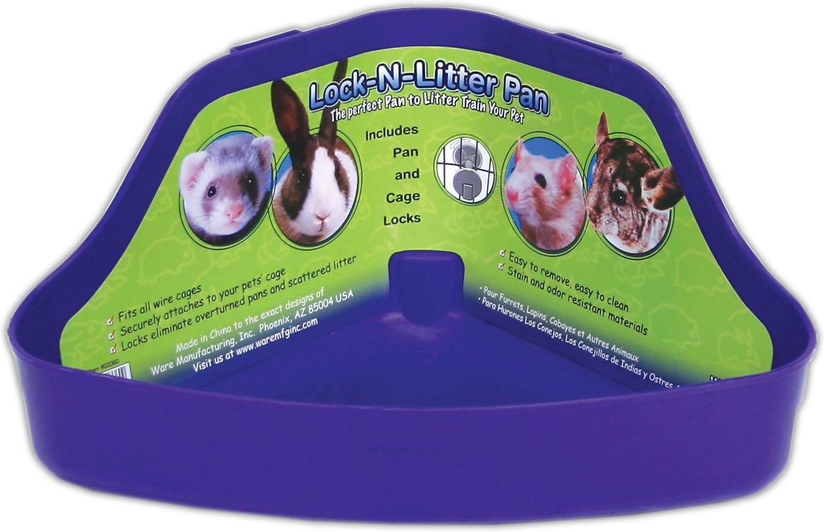 Ware Lock-N-Litter Small Animal Litter Pan, Color Varies, Regular