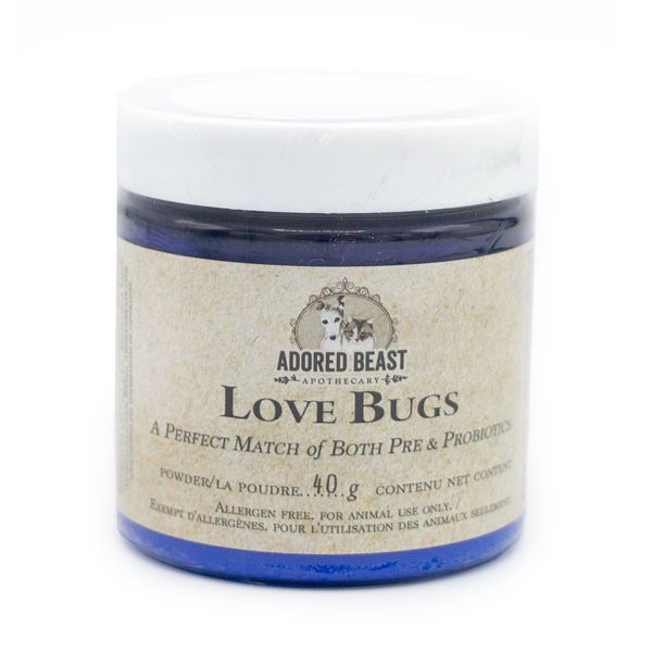 Adored Beast Love Bugs Pre & Probiotic for Dogs & Cats, 40-g