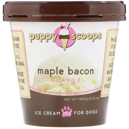 Puppy Cake Puppy Scoops Ice Cream Mix Maple Bacon Flavored Dog Treats, 5.25-oz