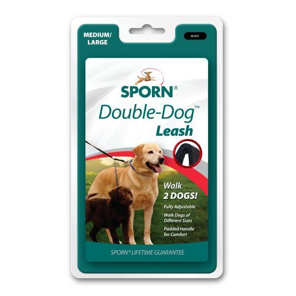 Sporn Double-Dog Dog Leash, Medium/Large