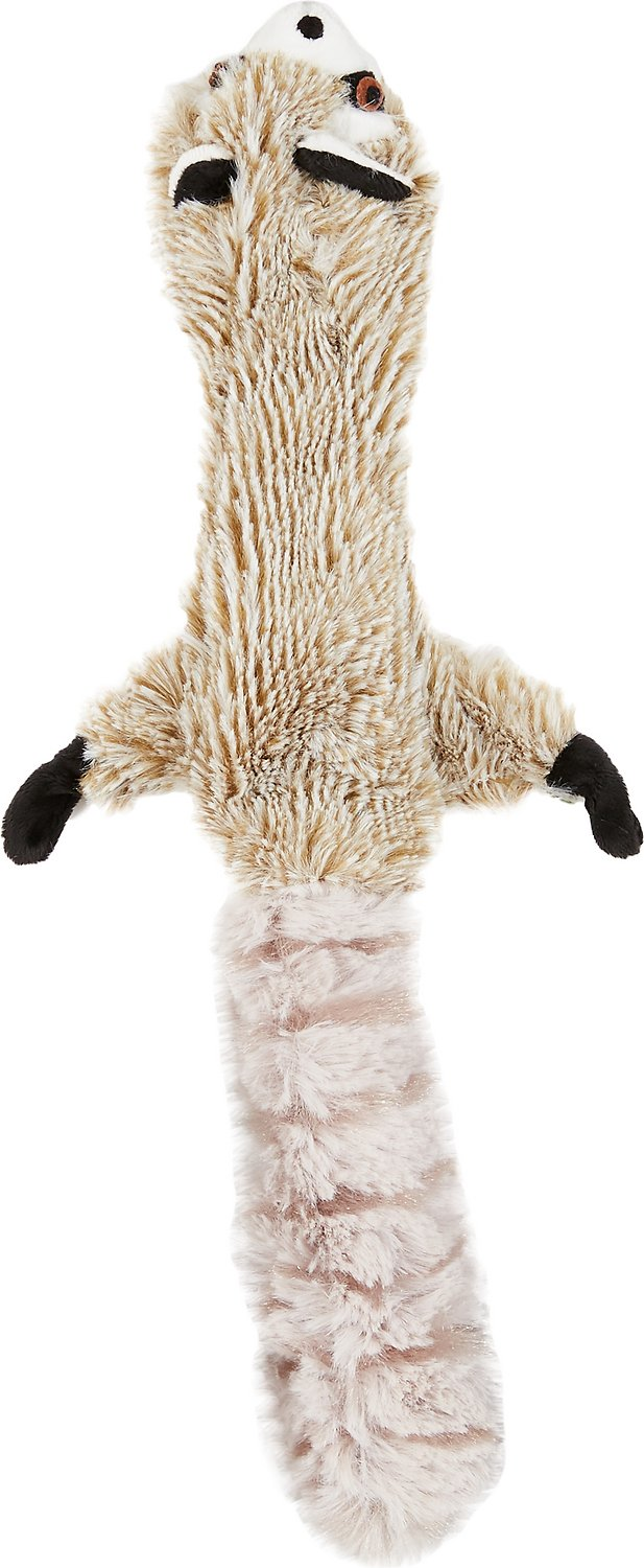 Ethical Pet Skinneeez Forest Series Raccoon Stuffingless Dog Toy, 14-in