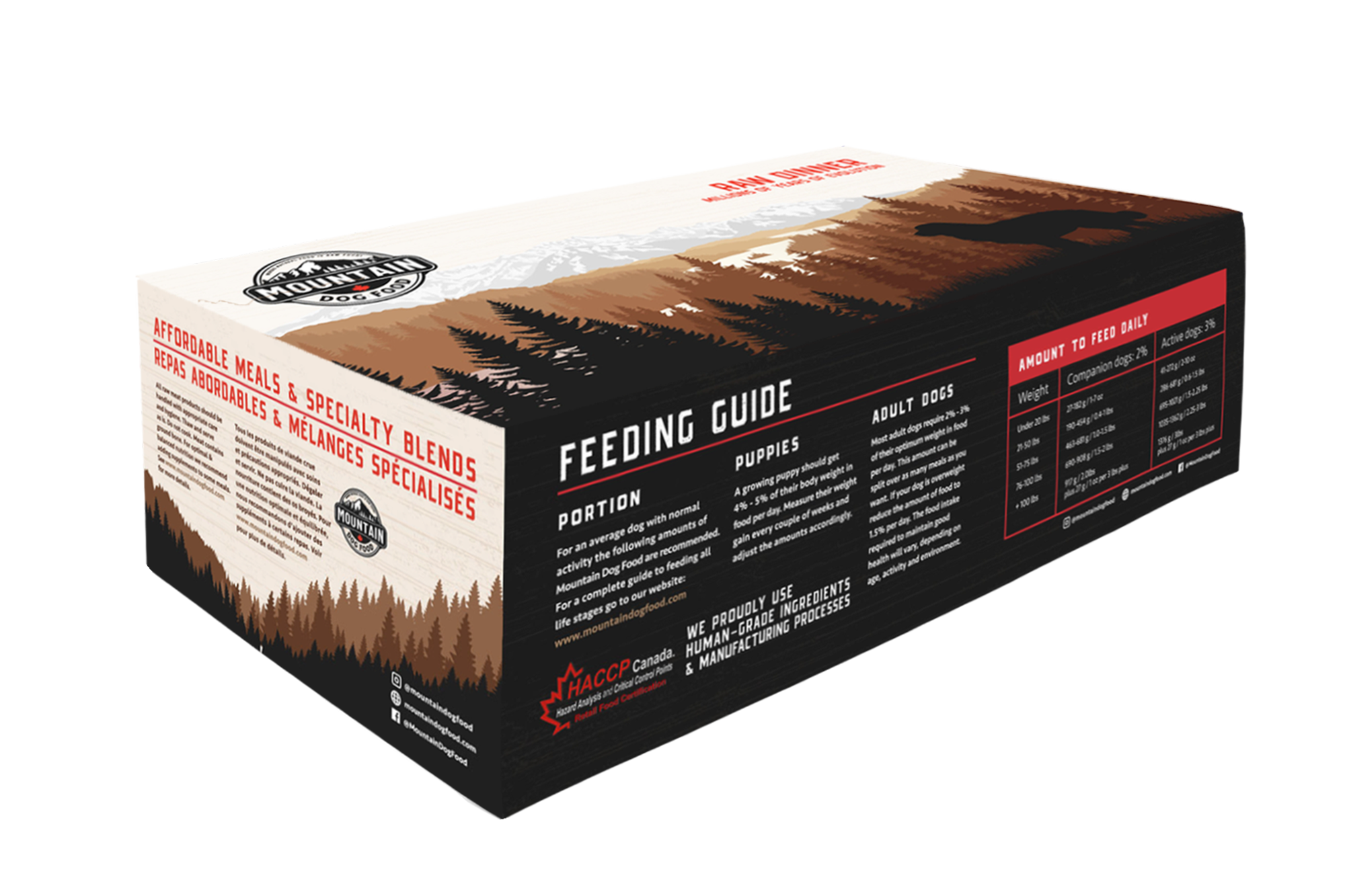 Mountain Dog Food Foundation Chicken & Vegetable Frozen Dog Food Image