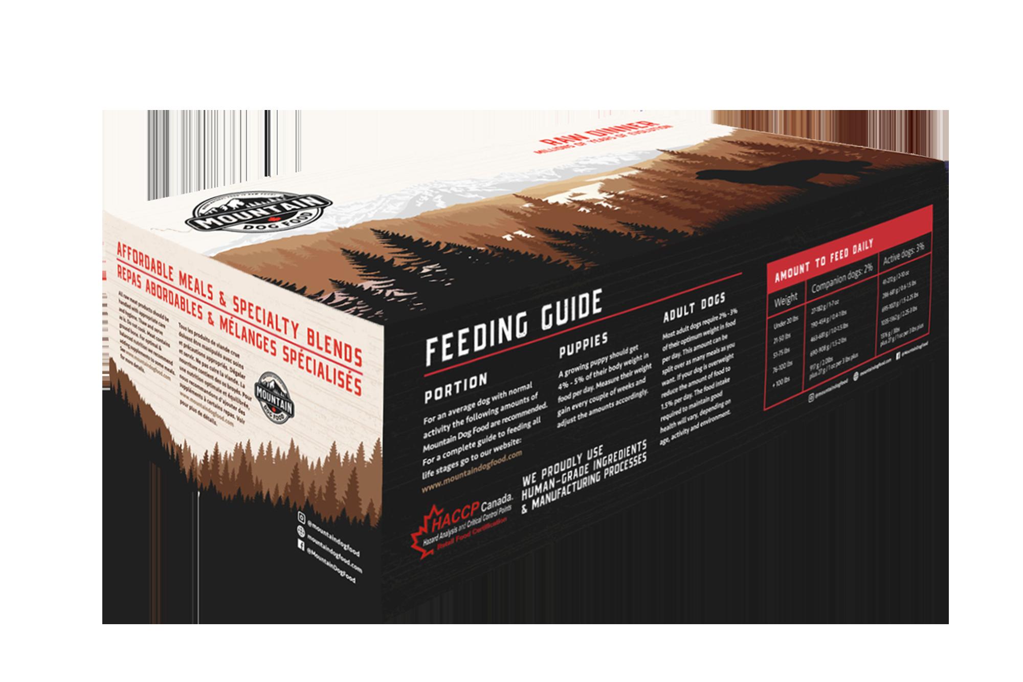 Mountain Dog Food Foundation Chicken & Vegetable Frozen Dog Food, 12-lb