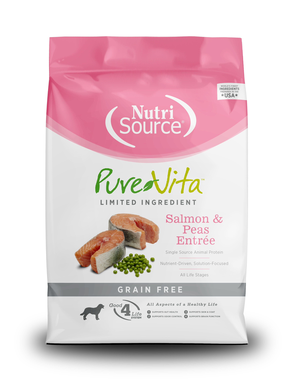 PureVita Salmon & Peas Entrée Grain Free Formula Dry Dog Food, 15-lb