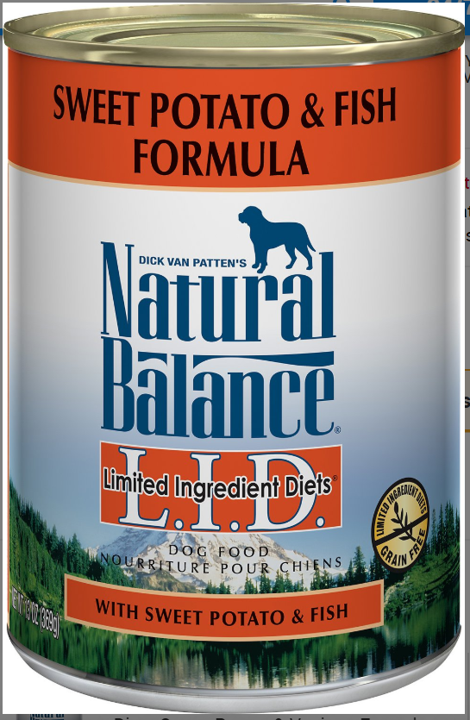 Natural Balance L.I.D. Limited Ingredient Diets Sweet Potato & Fish Formula Grain-Free Canned Dog Food, 13-oz