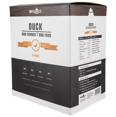 Naturawls Duck Raw Dog Food, 8-lb