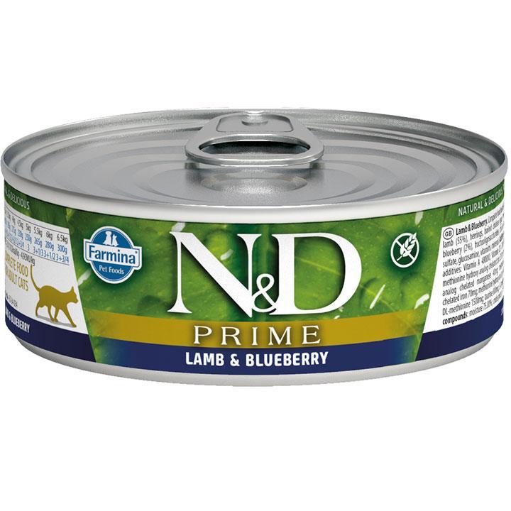 Farmina Prime Feline Lamb & Blueberry Wet Cat Food, 2.8-oz