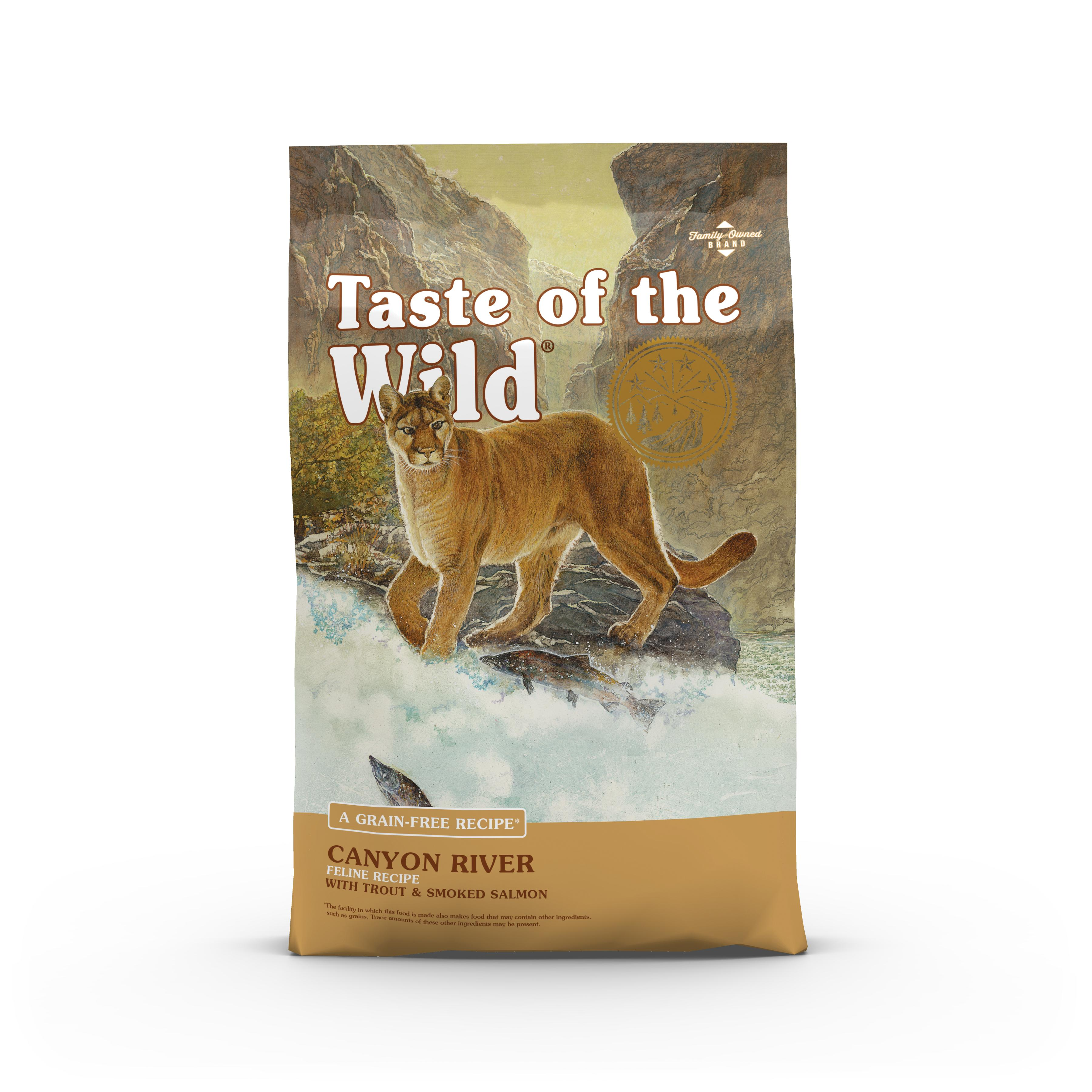 Taste of the Wild Canyon River with Trout & Smoked Salmon Grain-Free Dry Cat Food Image