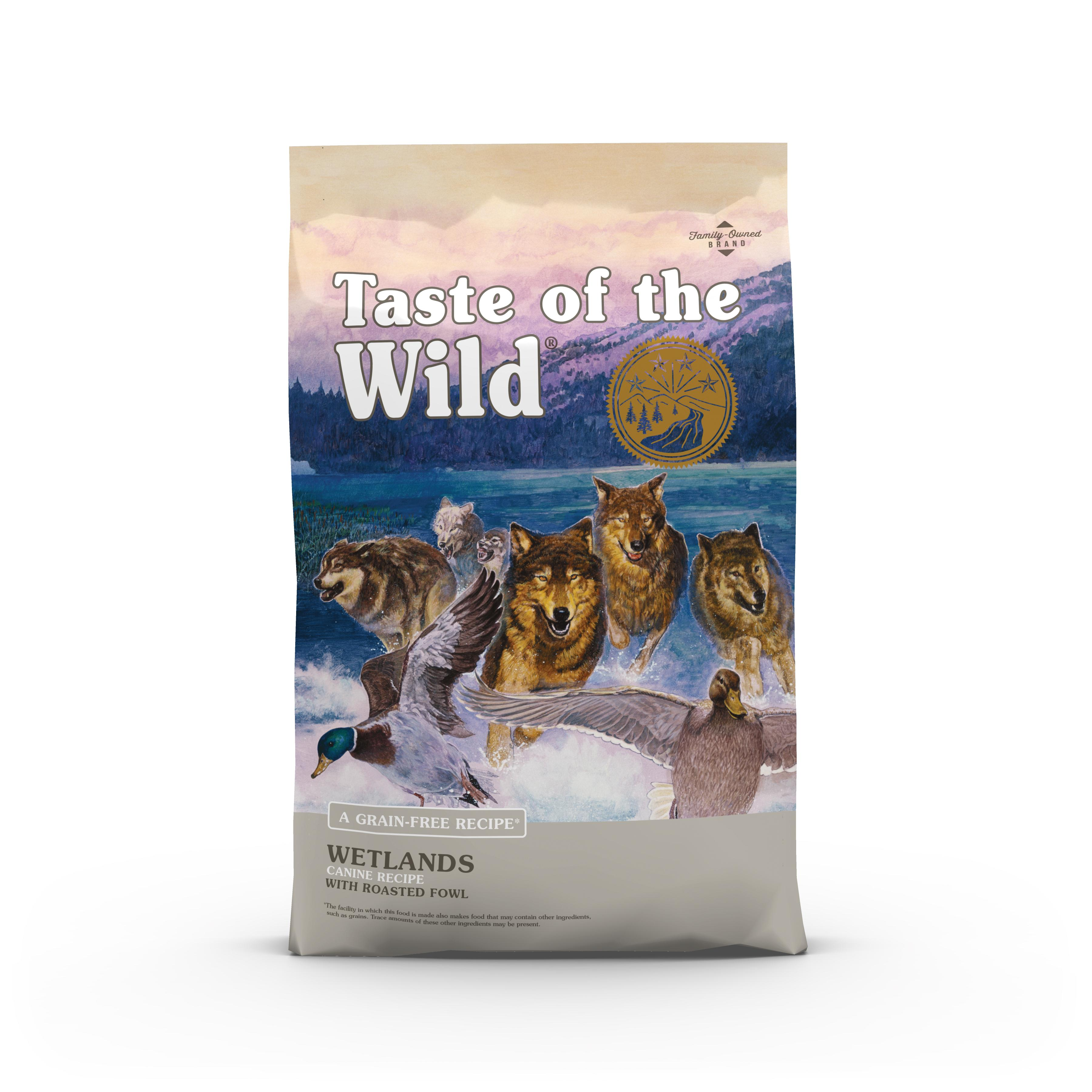 Taste of the Wild Wetlands with Roasted Fowl Grain-Free Adult Dry Dog Food, 5-lb