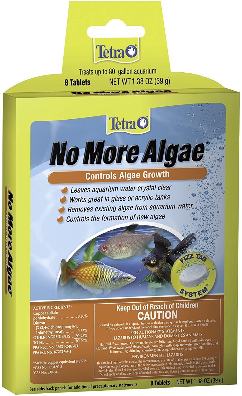 Tetra No More Algae Controls Algae Growth for Water Clarity, 8-count