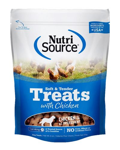 NutriSource Soft and Tender Chicken Dog Treats, 6-oz